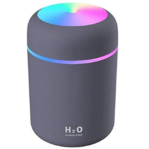 Mini Luftbefeuchter,Auto Luftbefeuchter,Aromazerstäuber,Aromadiffusor,Bunter cooler Mini Luftbefeuchter,UBS-Verbindung,2 Nebelmodi,Super Quiet,automatische Abschaltung,Trockene Haut lindern. (Gray)