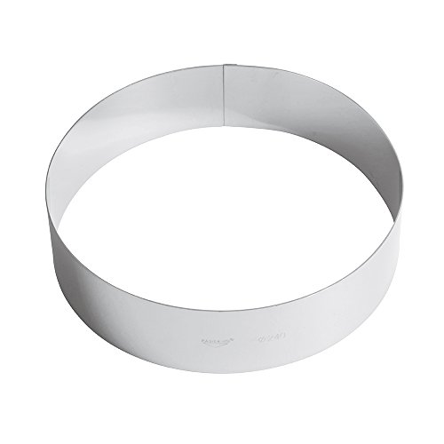 Paderno Anello per Torte/Coppapasta in Acciaio Inox 18/10, Diametro 24 cm, Altezza 6 cm