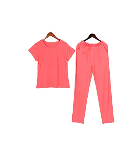 MOOPYS& CoolPajamas Summer 2Piece/ Sexy Mom Solid Female Thin Cotton Stitch Big Size...