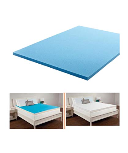 KK Products and Foams Gel Memory Foam Mattress Topper, Extra Soft Marrress Pad (Sizes Range: Sinlge, Double, King, Super King) (Super King 70' x 78')