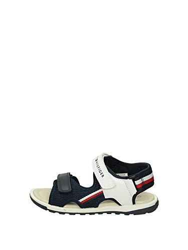 Tommy Hilfiger Kinder Schuhe Jungs Sandalen, Farbe:Weiß, Größe:EUR 38