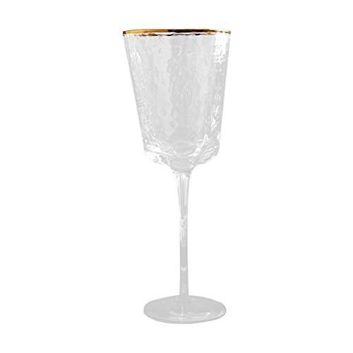ABOOFAN 1 pieza de cristal de vino de cristal creativo whisky taza ramo fiesta suministro oro