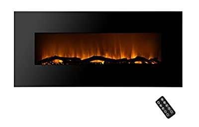 SHORFUNE Wall Mount Electric Fireplace