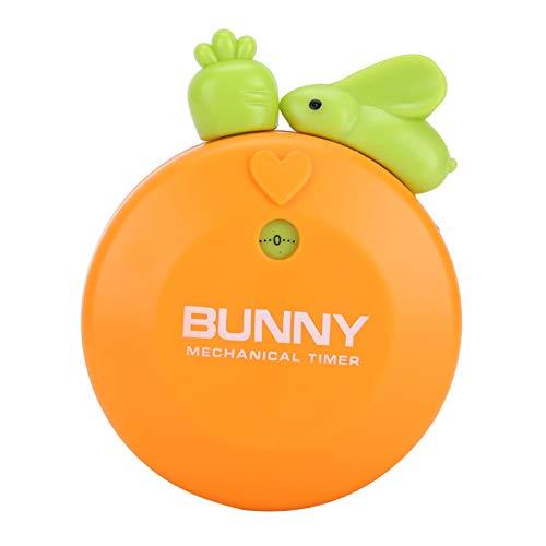 Emoshayoga Temporizador de Conejo de Dibujos Animados para Hornear Herramienta de Cuenta Regresiva(Orange)