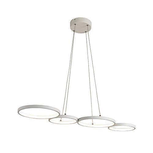 Lámpara colgante LED Moderna en forma de anillo de 88 cm de longitud Material de silicona de aluminio para sala de estar Habitación para niños Sala de estudio 35W 2450 Lumes 3000K Blanco cálido