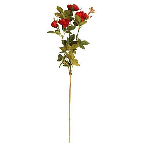 Ramo de Flores de peonia Artificiales Vintage Flor de peonía Banquete de Boda decoración para el hogar Flores Falsas Ramo de Novia Dia de la Madre Regalo riou