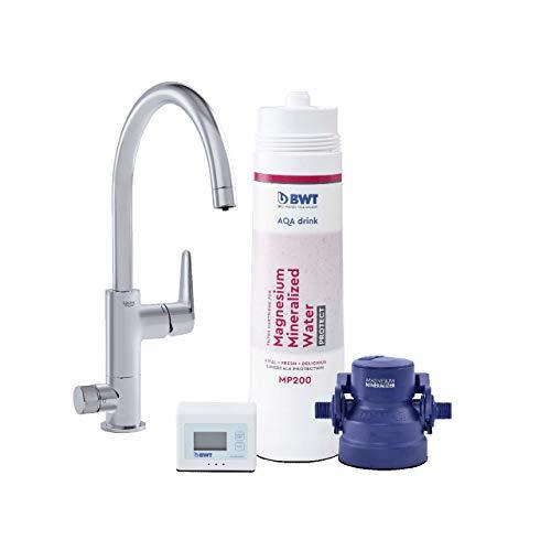 BWT Wasserfilter-Wasserhahn für Küche | AQA drink Pure URBAN | inkl. Filterkartusche mit 600l Kapazität | Küchenarmatur von GROHE