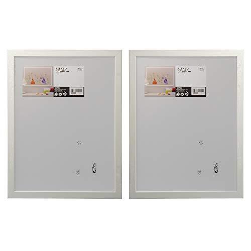 Ikea - FISKBO - Juego de 2 marcos de fotos, 30 x 40 cm, color blanco
