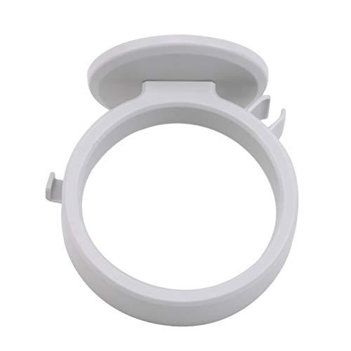 JIFNCR - Secador de pelo de estilo simple, creativo para montar en la pared, antideslizante, estante de almacenamiento para baño, plástico, Blanco, As the Description