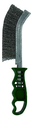 TIVOLY XT20251006170 Brosse métal Ergo poignée Plastique Fil Inox - vert - 26cm