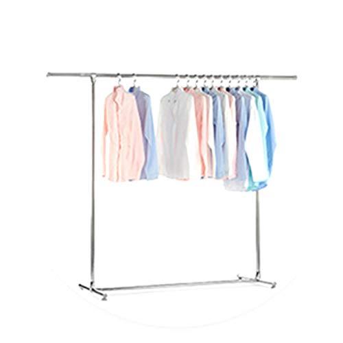 Single Pole kledingrek, RVS Staande Balkon Beddengoed Kledingwinkel Vestiaire Kapstok Multifunctionele Hanger (Size : 130-200CM)