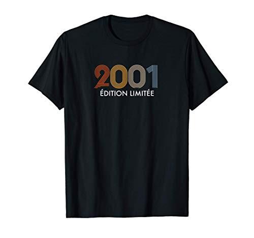 Retro 20 ans Millésime 2001 Édition Limitée 20e anniversaire T-Shirt