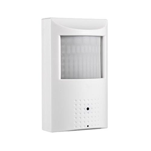 POE HD 3MP PIR IP Kamera - Revotech® - H.265 2MP 1080P Innenraum 3.7mm Linse 940nm 48 LED Unsichtbar Nachtvision Lochblende Sicherheit Kamera ONVIF P2P CCTV Kamera mit IR-Schnitt (IPIR-P weiß)