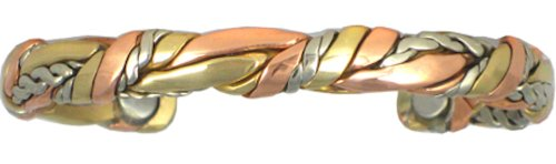 BillyTheTree Jewelry Sage Bundle - Sergio Lub Copper Magnetic Therapy Bracelet - Made in USA!| Size/Style| Polished - Large - 7 to 8 inches