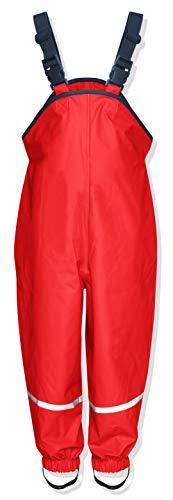 Playshoes Regenlatzhose Textilfutter Pantalón Impermeable, Rojo, 98 Unisex bebé