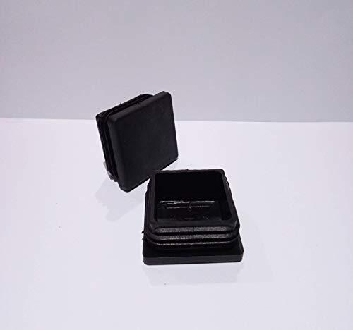 Terminale per gambe di mobili quadrate, 40 x 40 mm, nero | Tappo per gambe di sedie / Trampolino / armadio / scaffalatura / letto (EMB40C) (16)