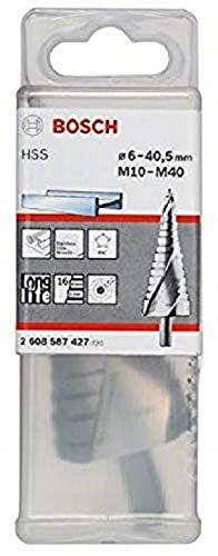 Bosch 2 608 588 071 - Broca escalonada HSS-AlTiN - M10-M40, 10,0 mm, 125,5 mm (pack de 1)