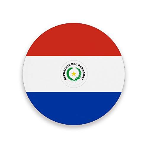 FANTAZIO Vlag van Paraguay Cup Mat Coaster voor Wijnglas Thee Coaster met Varying Patronen Geschikt voor Soorten Mokken en Bekers 1 piece set 1 exemplaar
