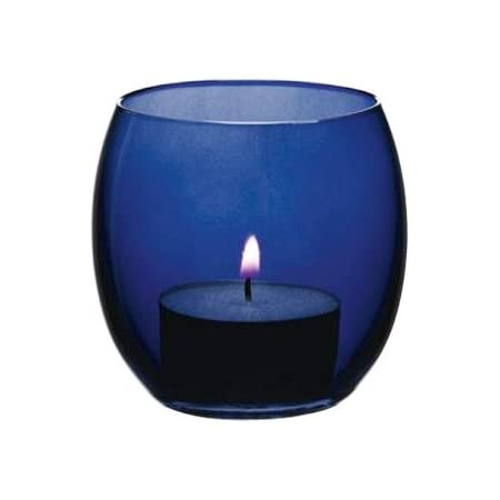 Colbalt Blue Candlesticks And Candles