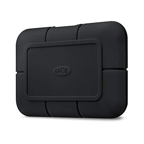 LaCie Rugged SSD Pro, 1 TB, Disco duro SSD Externo portátil, USB-C Thunderbolt 3, Resistencia Extrema al Agua, Mac, PC, 1 Mes Adobe CC, 5 años servicios Rescue (STHZ1000800)