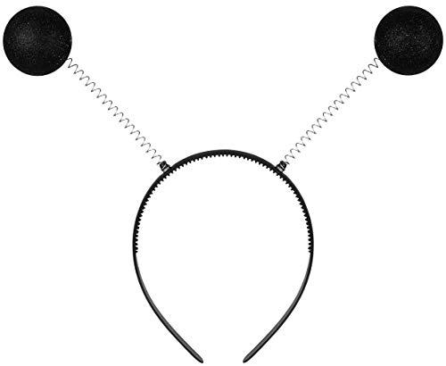 Balinco Alice Banda con Antenas de Insecto Negro para Las Mujeres y nias como Accesorio para tu Disfraz para el Carnaval