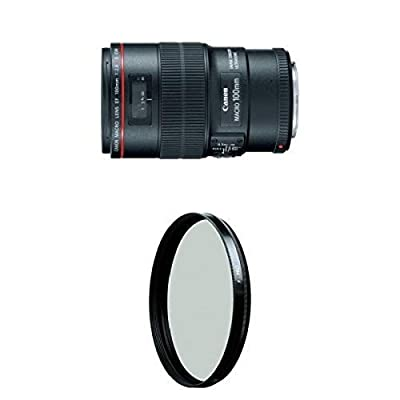 Canon EF 100mm f/2.8L IS USM Macro Lens for Canon Digital SLR Cameras w/ B+W 67mm HTC Kaesemann Circular Polarizer from