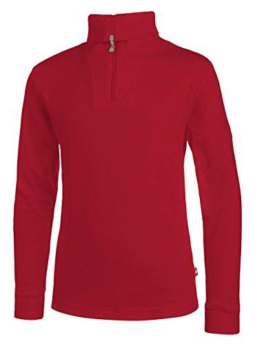 Medico Kinder Ski Shirt, rot, 152, 100% Baumwolle, Langarm, Rollkragen, Reißverschluss, rot, 152