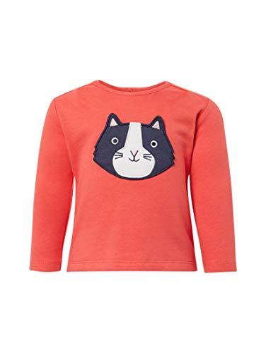 TOM TAILOR Mädchen Strick & Sweatshirts Sweatshirt mit Print Bittersweet|red,86