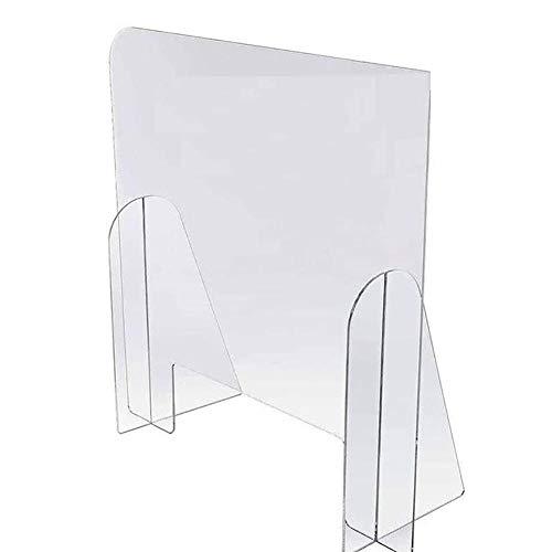 Material : 100% Acrílico transparente.transparente con cantos pulidos y sin marco. Conjunto rígido, ligero y resistente. Medidas : 75x75cm (pantalla) / 4mm (grosor). Lugar Aplicable : Mampara protectora de Mampara transparente para colgar en su estab...
