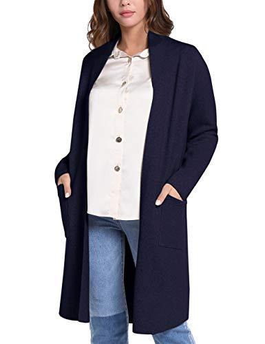 APART Damen Jacke, weiche Strickjacke, Cardigan mit Taschen, Kaschmir-Anteil, Feinstrick, Nachtblau, M