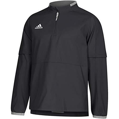 adidas Mens Fielders Choice 2.0 Long Sleeve Baseball Convertible Jacket Black M