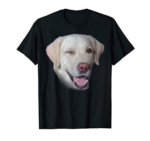 Gelbes Labrador Apportierhund Gesicht T-Shirt