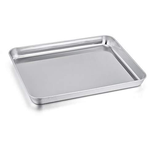P&P Chef Toaster-Ofenform, Edelstahl, rechteckig, 31,8 x 24,9 x 2,5 cm, ungiftig und gesund, spiegelnde Oberfläche und leicht zu reinigen