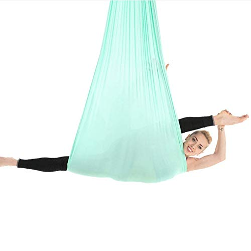 XSWL Aerial Yoga Swing Hammock Antigravity Inversion Hanging Equipment Include Ceiling Mounting Kit, Extension Strap And Hanging Plate(5 * 2.8M),005