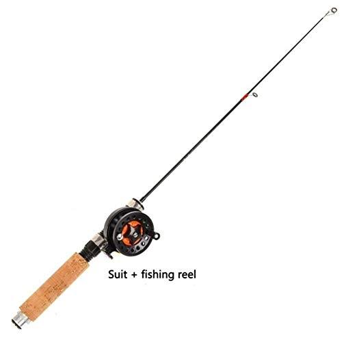 Gneric YMYGBH CañAs De Pesca Baitcasting Cañas de Pescar de Hielo Cañas de Pescar Carretes Elegir Rod Combo Pluma Pole señuelos trastos de Spinning Casting Duro de Rod (Color : Burgundy)