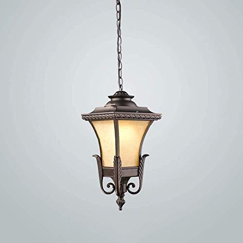 FXLYMR Lámpara de Pared Lámpara de Noche Lámpara de Techo de Cristal a Prueba de Lluvia, E27 Vintage Vintage Prevención de la Lámpara Colgante de Aluminio, Estilo Europeo, Duradero, Anticorrosión Y A
