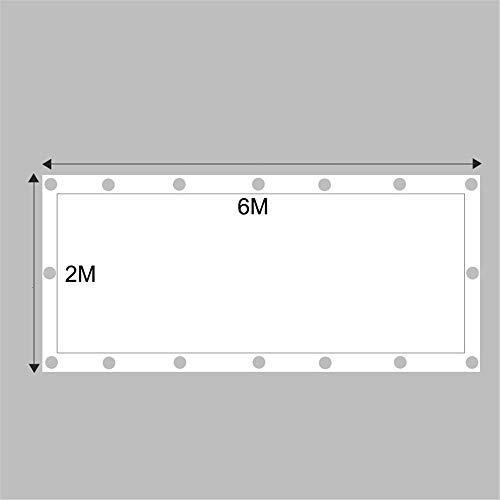 Quadratische Form Sonnenschirm Stoff Segel Mit Ösen Sunblock Mesh Shade Für Garten Terrasse Außenanlage Und Aktivitäten,2 * 6M