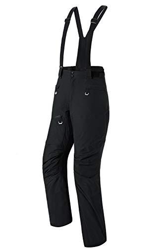 Insulated Ski Pants Waterproof Men Women 15K Stretch Snowboarding Bibs Zip-Off Suspenders Breathable...