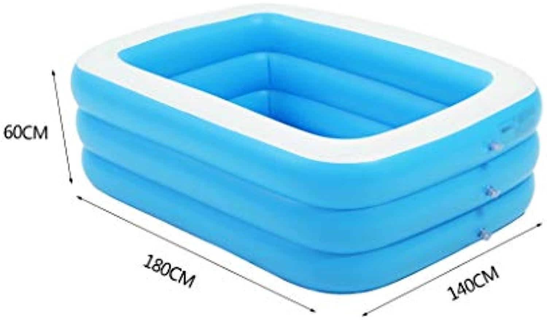 Aufblasbare Multifunktionsbadewanne, Aufblasbare Badewanne für blaues Kinderaufblasbare Schwimmbecken mit Mehreren Gren Verdickte aufblasbare Badewanne (gre   180CM)