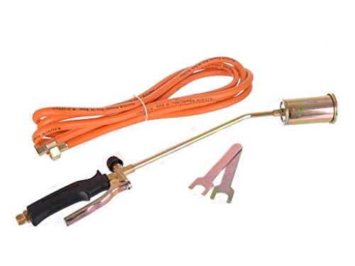 Kit de techo de quemador de gas propano de brazo extra largo para malezas, herramienta de deshierba