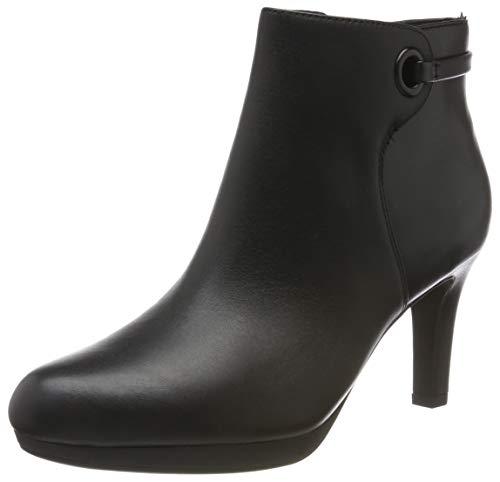Clarks Damen Stiefeletten Kurzschaft Stiefel, Schwarz (Black Leather), 41.5 EU