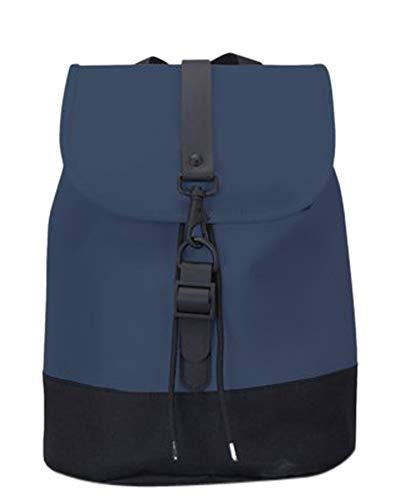 RAINS Drawstring Unisex Small Backpack Blue