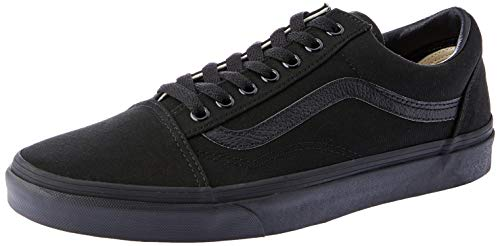 Vans – Old Skool(tm) Core Classics Hombres, Negro/Negro, Men's 8, Women's 9.5 Medium