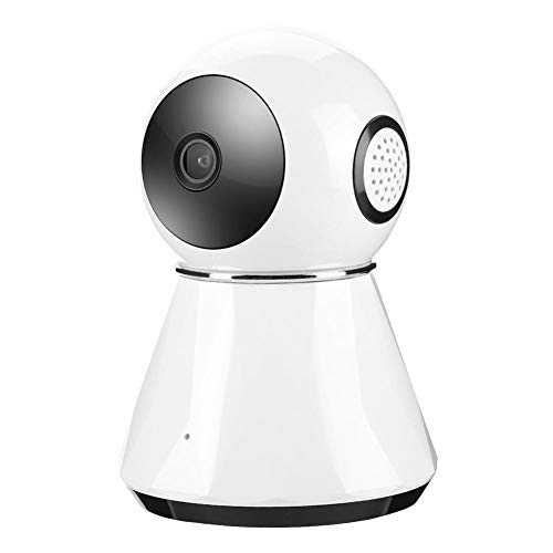 1080P WiFi Home Babyfoon, Home Security IP Baby Monitoring Wireless Dome Camera Ondersteuning PIR Detector/One Button Design/TF Card/Cloud Storage/IR-CUT Nachtzicht(EU)