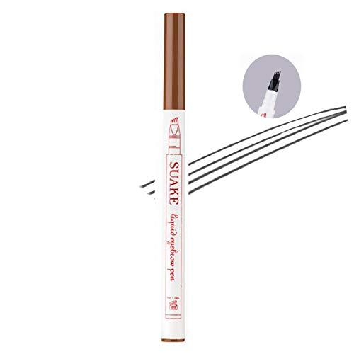 Tattoo Eyebrow Pen, 4 Puntos Microblading Para Cejas, Lápiz Para Cejas, Crea Un Maquillaje Profesional Duradero, Cejas Impermeables De Aspecto Natural (2#Marrón)