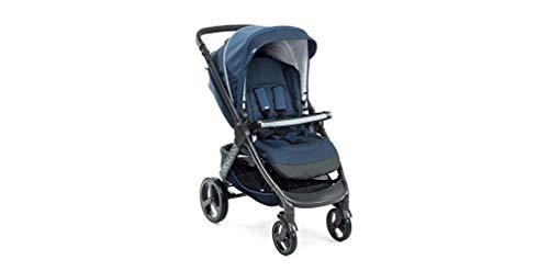 Chicco Trio StyleGo Blue Passion - Sistema de paseo y viaje 2 en 1, capazo y silla de paseo, 0-15 kg, color azul