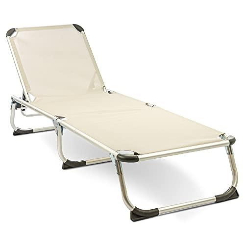 MaxxGarden Tumbona plegable – Tumbona de camping – Tumbona de playa –...