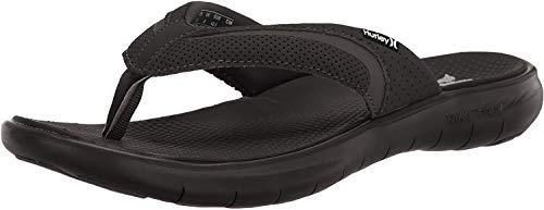 Hurley M Free Motion 2.0 Sandal Flip-Flop, Hombre, Black, 39 1/2