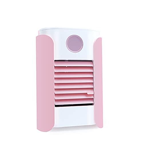 llsdls Miniventilador Portátil USB para Oficina Y Dormitorio, Purificador De Aire, Humidificador De Refrigeración De Escritorio, 2021 (Color : Pink)