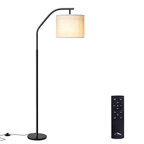 Floor Lamps, Super Bright LED Torchiere Metal Floor Lamps, LED Floor Light with Remote Control, Standing Lamp with Stepless Dimmer for Living Room, Office and Bedroom